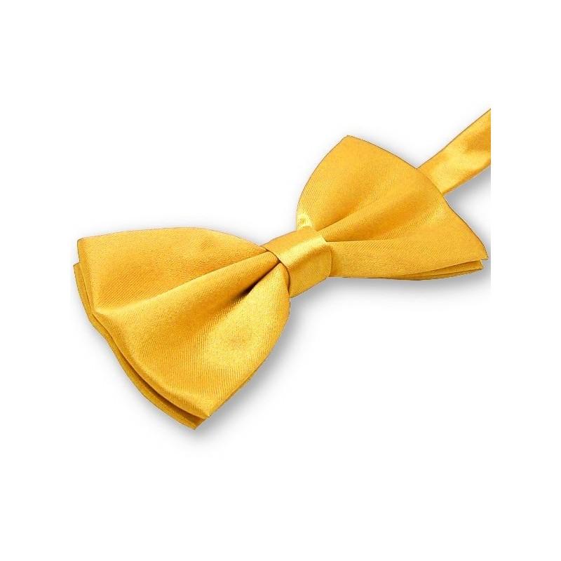Noeud-papillon jaune-orangé
