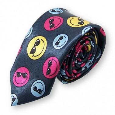 """cravate étroite """"Smiley"""""""