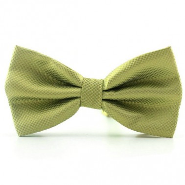 Noeud papillon vert-olive