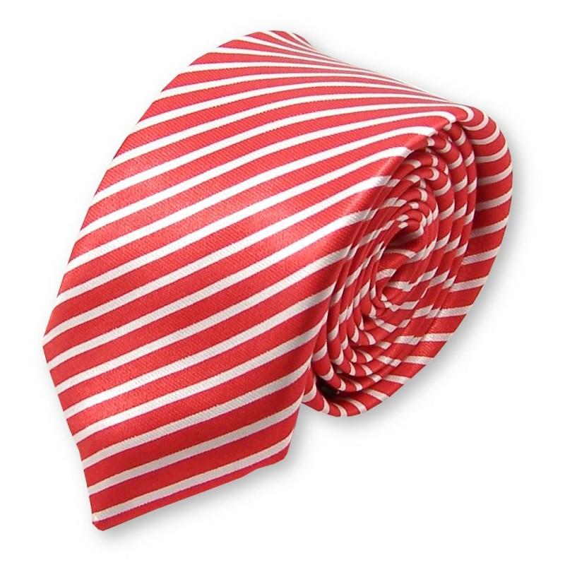 cravate fine rouge et blanche label cravate. Black Bedroom Furniture Sets. Home Design Ideas
