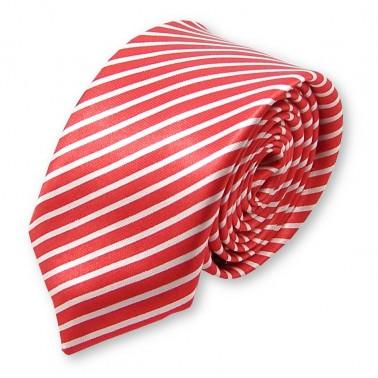 """cravate fine """"rouge et blanche"""""""