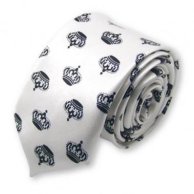 "cravate slim ""La Couronne"""
