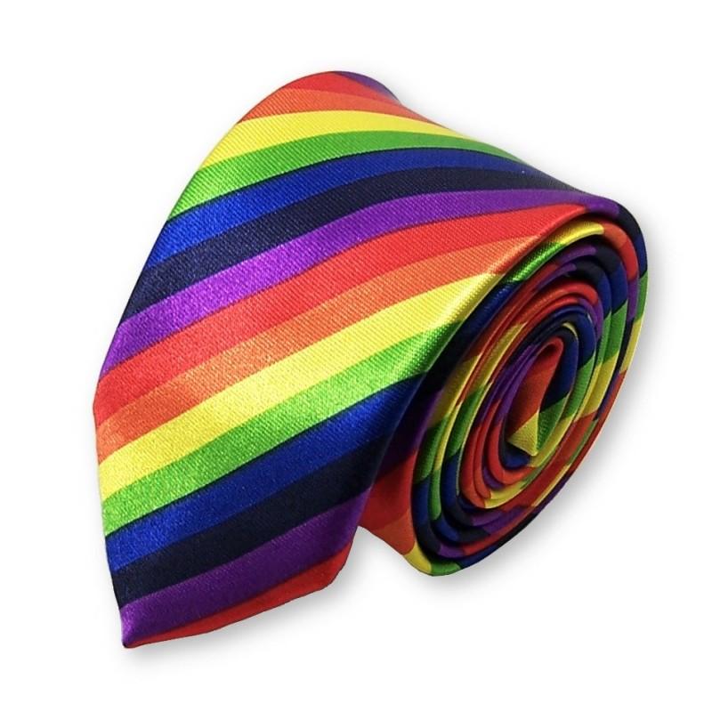 cravate fine multicolore