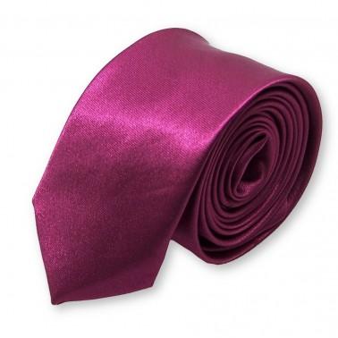 cravate fine couleur prune