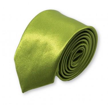 cravate slim vert-olive