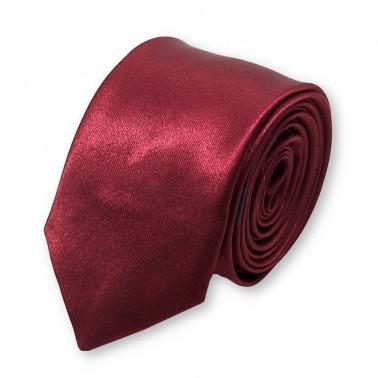 cravate slim lie-de-vin