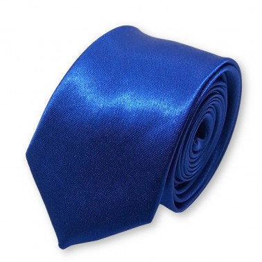 cravate slim bleu-roi