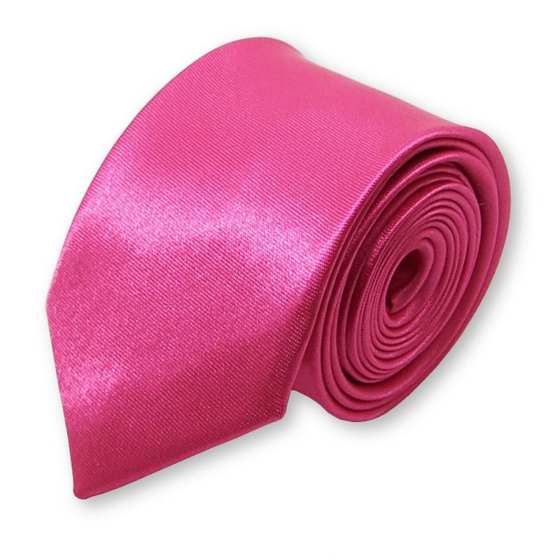 "cravate slim ""Fuschia"""