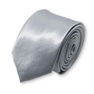 cravate slim gris-argent