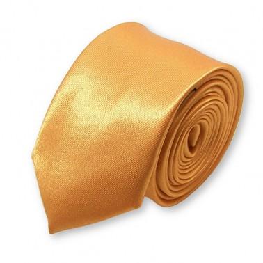 cravate slim jaune-or