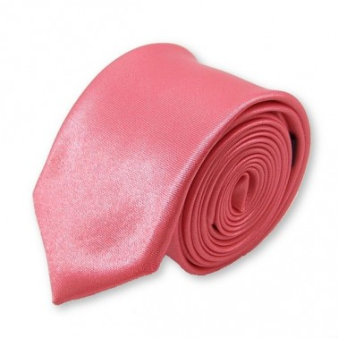"""Cravate slim """"vieux-rose"""""""