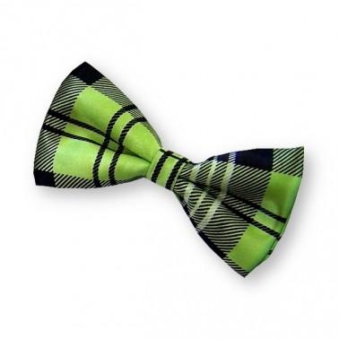 Noeud papillon vert écossais