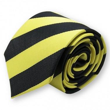 Cravate club jaune et noire