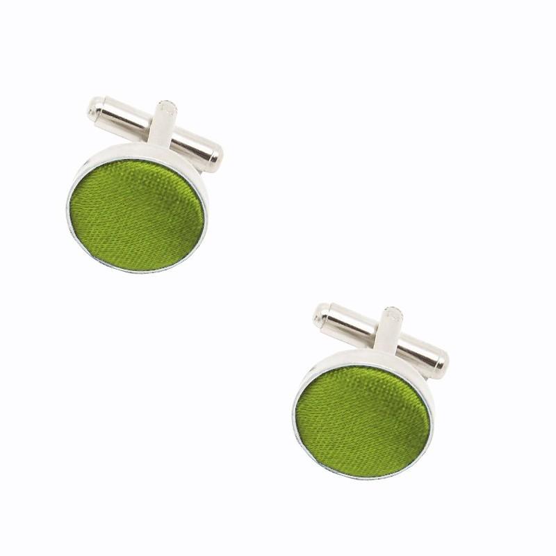 Boutons de manchette vert-olive