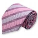 Cravate mauve et parme