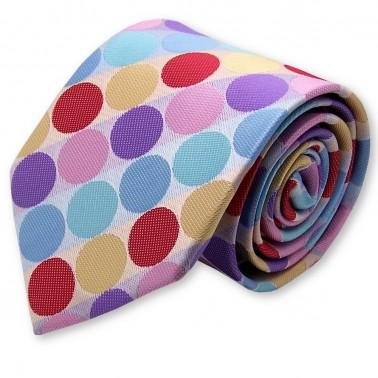 """Cravate """"Pois multicolores"""""""