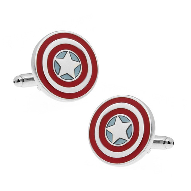 """Boutons de manchette """"Captain America"""""""