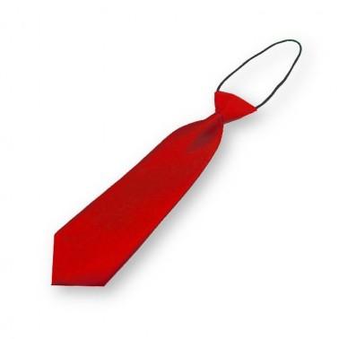 Cravate rouge pour garçon, finitions main