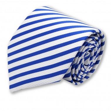 Cravate bleu-mer à rayures