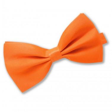 """Noeud-papillon noué """"orange-fluo"""""""