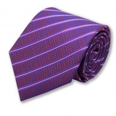 cravate violette rayée