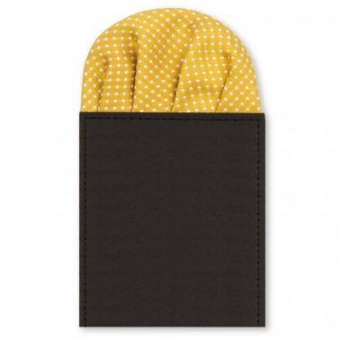 """Pochette costume pliée """"jaune-moutarde"""""""