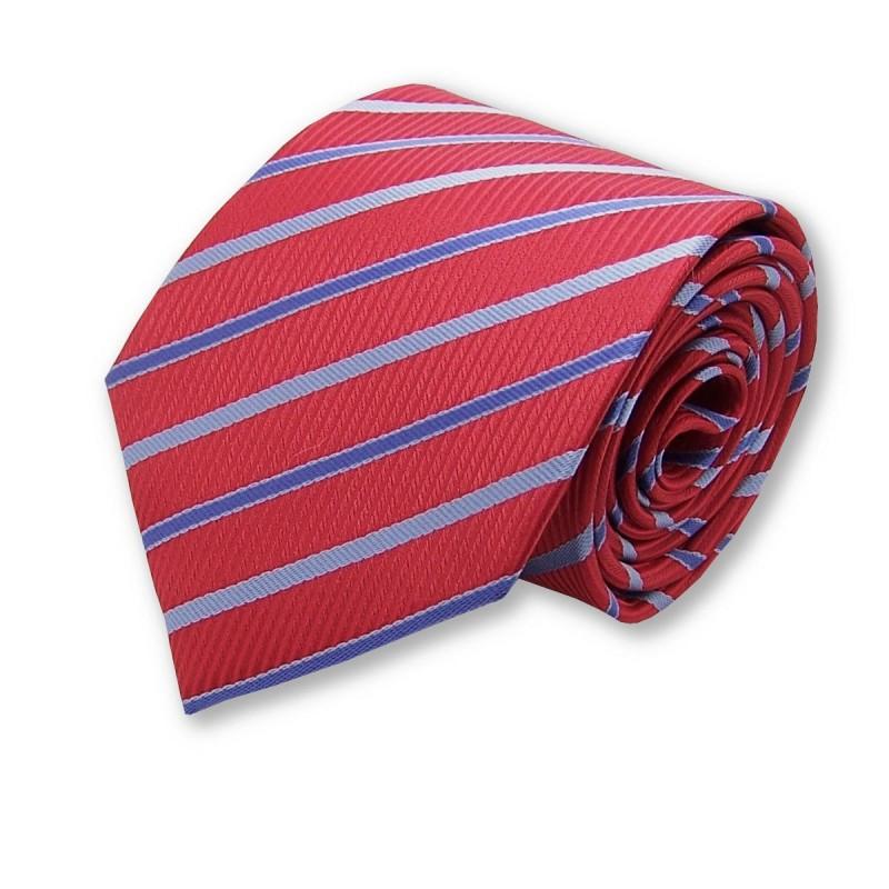 cravate bordeaux et rouge rayée