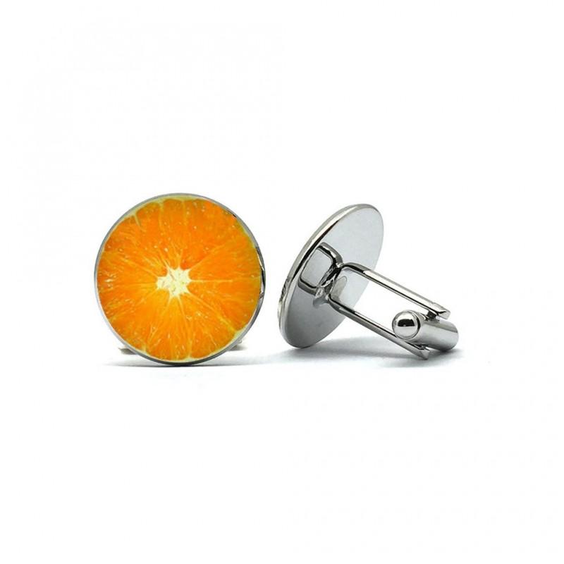 """Boutons de manchette """"l'Orange"""""""