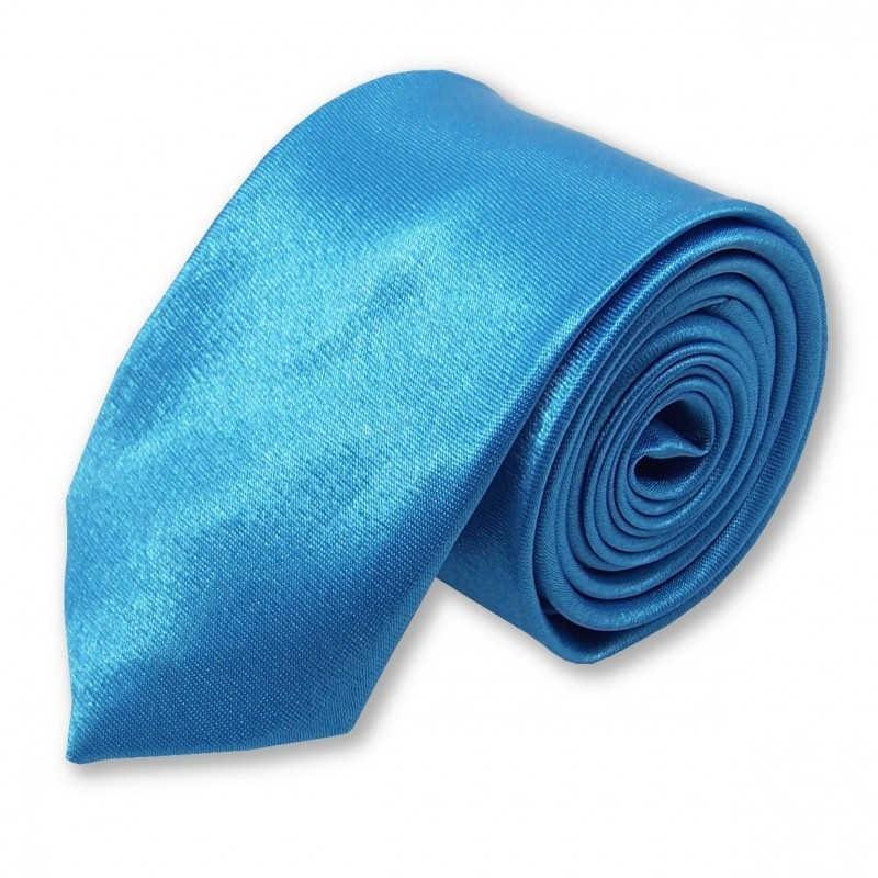 Cravate slim «bleu Méditerranée»