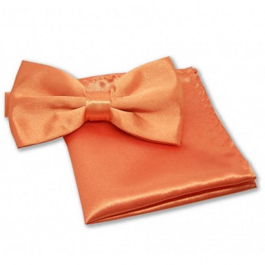 Noeud-papillon orange et pochette costume