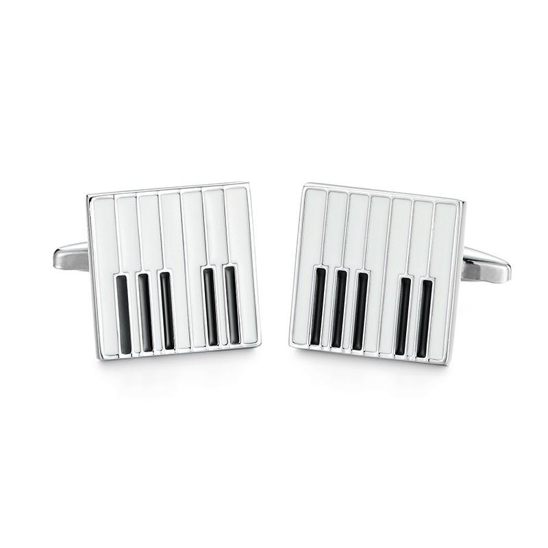 """Boutons de manchette """"Clavier de piano"""""""