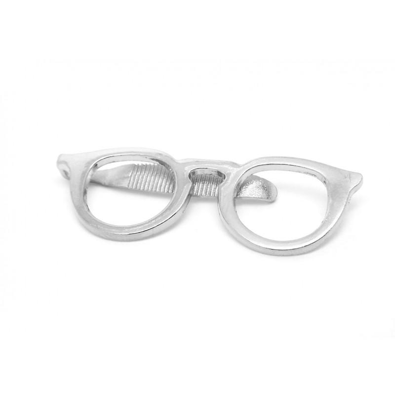 Pince cravate fantaisie lunettes