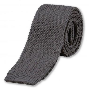 cravate tricot gris