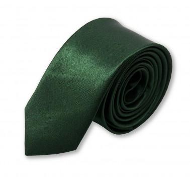 cravate slim vert-foncé