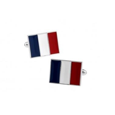 """Boutons de manchette """"Drapeau Français"""""""