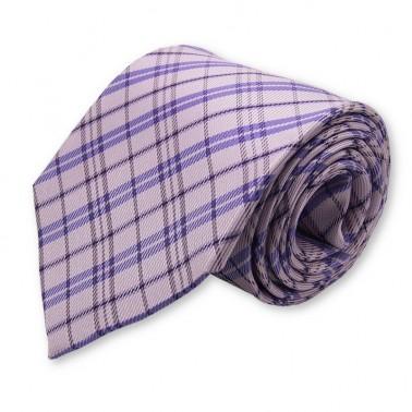 Cravate parme à rayures
