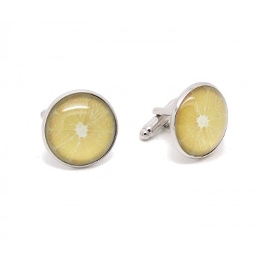Boutons de manchette fantaisie «Fruit Citron»