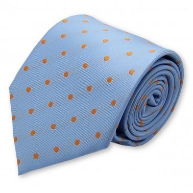 cravate bleu-ciel à petits pois
