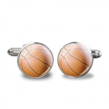 """Boutons de manchette """"ballon de Basket"""""""