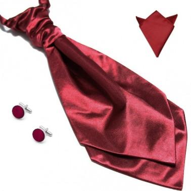 lavallière bordeaux pochette costume et boutonnières