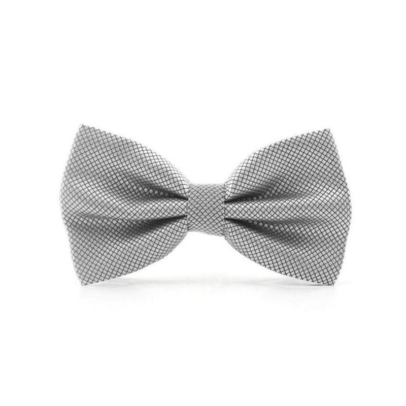 Noeud papillon gris-argent