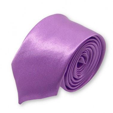 cravate slim mauve-parme