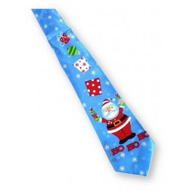 Cravate humoristique papa Noël et ses cadeaux