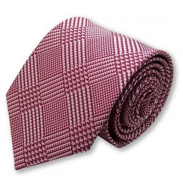 cravate rouge style pied de poule