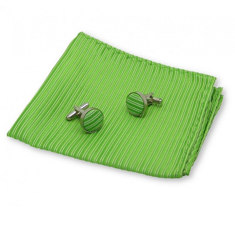 pochette costume vert pomme anis