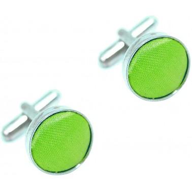 Boutons de manchette vert pomme anis
