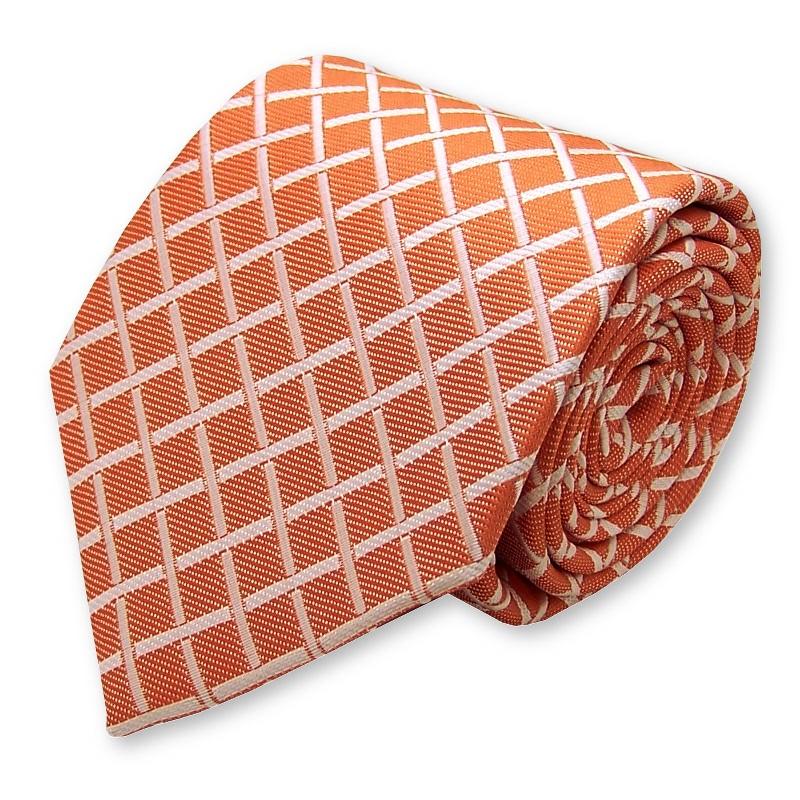 """Cravate tissée """"Orange vif"""""""