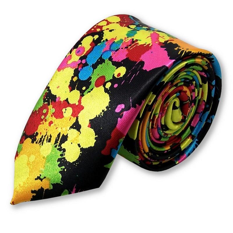"""Cravate slim """"Effet peinture"""""""