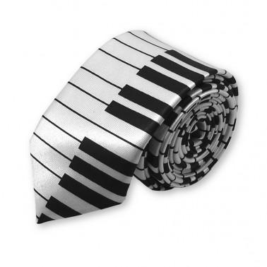 cravate slim piano note de musique