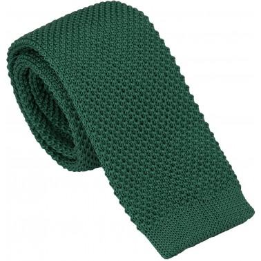cravate tricot vert-foncé